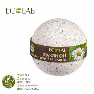 Kula musująca do kąpieli - naturalna - ZIOŁOWA - soda oczyszczona, organiczny olej ze słodkich migdałów, kwiaty rumianku, 220g