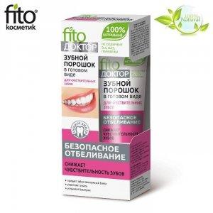 Proszek do zębów w gotowej formie DLA WRAŻLIWYCH ZĘBÓW - BEZPIECZNE WYBIELANIE - Fitokosmetik