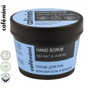 CAFE MIMI - scrub do rąk - morska sól, olej ze słodkich migdałów, olej z pestek winogron, 110ml