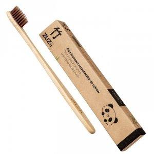 Bambusowa szczoteczka do zębów brązowa