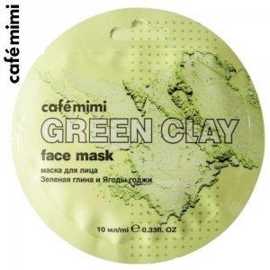 Maseczka do twarzy Zielona glinka i jagody Goji 10 ml - CAFE MIMI