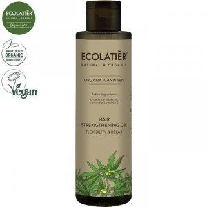 CANNABIS Wzmacniający włosy olejek ELASTYCZNOŚĆ I RELAKS, 200 ml ECOLATIER