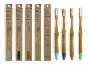 ECODENTA Bambusowa szczoteczka do zębów (medium) 1 szt.