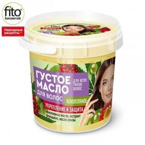 Gęsty olejek do włosów wzmacniający na bazie oleju konopnego, 155 ml - Fitokosmetik