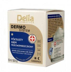 Delia Cosmetics Dermo System Półtłusty Krem przeciwzmarszczkowy na dzień i noc  50ml