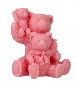 LaQ Mydełko glicerynowe Rodzinka-Trzy Misie - różowe 70g