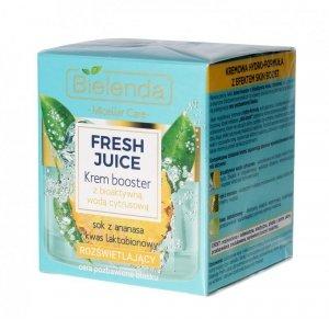 Bielenda Fresh Juice Krem Booster rozświetlający z wodą cytrusową Ananas 50ml