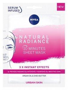 Nivea Urban Skin Maska w płacie 10-minutowa Natural Radiance  1szt