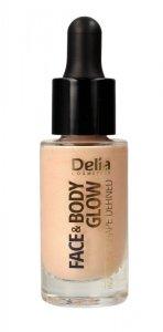 Delia Cosmetics Shape Defined Face & Body Glow Rozświetlacz do twarzy i ciała  15mll