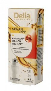 Delia Cosmetics Argan Care Q10 Roll-on pod oczy wygładzający  15ml