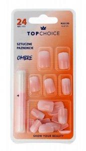 Top Choice Sztuczne paznokcie z klejem OMBRE (78002)  1op.