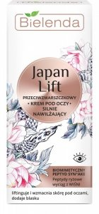 Bielenda Japan Lift Silnie Nawilżający Krem przeciwzmarszczkowy pod oczy  15ml