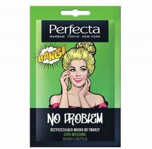 Perfecta No Problem Mango & Bazylia Maska oczyszczająca do twarzy - cera mieszana  10ml