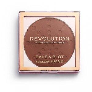 Makeup Revolution Bake & Blot Puder prasowany Deep Dark 5.5g