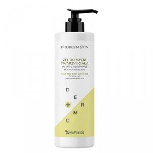 Vis Plantis Problem Skin Żel do mycia twarzy i ciała - do skóry trądzikowej,tłustej i mieszanej 400ml