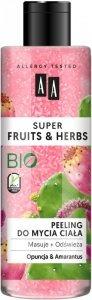 AA Super Fruits & Herbs Peeling do mycia ciała Opuncja i Amarantus  200ml