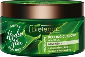 Bielenda Super Skin Diet Hydro Aloe Peeling do ciała cukrowy nawilżający 350g