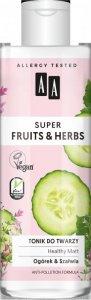 AA Super Fruits & Herbs Tonik do twarzy Healthy Matt Ogórek i Szałwia  200ml