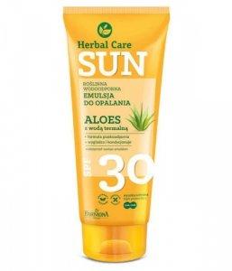 Farmona Herbal Care Sun Emulsja do opalania wodoodporna SPF30  Aloes z wodą termalną 150ml