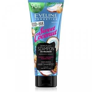 Eveline Food for Hair Sweet Coconut Szampon do włosów normalnych i cienkich  - nawilżenie i połysk  250ml