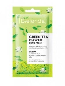 Bielenda Luffa Mask Maseczka na twarz detoksykująca Green Tea Power 2w1  8g