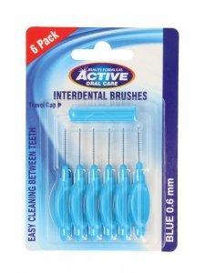 Beauty Formulas Active Oral Care Czyściki do przestrzeni międzyzębowych 0.6mm blue 1op.-6szt