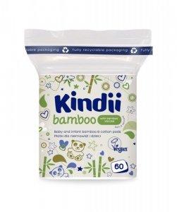 Kindii Bamboo Bambusowe Płatki kosmetyczne dla dzieci i niemowląt  1op.-60szt