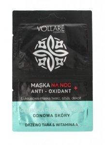 Vollare Maska na twarz,szyję i dekolt na noc - Anti-Oxidant  5mlx2