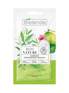 Bielenda Eco Nature Maseczka do twarzy detoksykująco-matująca - Woda Kokosowa & Zielona Herbata & Trawa Cytrynowa 8g