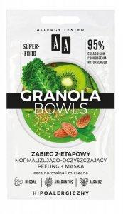 AA Granola Bowls Zabieg 2-etapowy normalizująco oczyszczający Detox - cera normalna i mieszana 8ml(4mlx2)