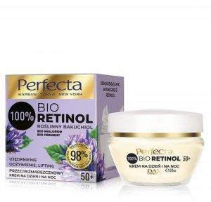 Perfecta 100% Bio Retinol 50+ Przeciwzmarszczkowy Krem na dzień i noc -ujędrnienie,odżywienie i lifting 50ml