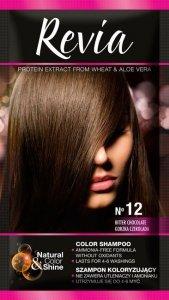 Revia Szampon koloryzujący do włosów nr 12 Gorzka Czekolada 1op.