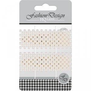 Top Choice Fashion Design Spinki typu Pyk perła biała (23828)  1op.-2szt