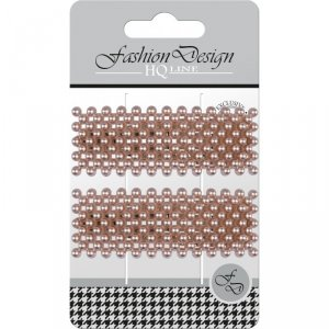 Top Choice Fashion Design Spinki typu Pyk perła rose gold (23835)  1op.-2szt