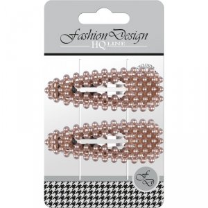 Top Choice Fashion Design Spinki typu Pyk perła rose gold (23804)  1op.-2szt