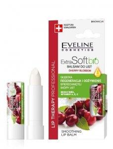 Eveline Lip Therapy Professional Balsam ochronny do ust Extra Soft Bio - Wiśnia 4g