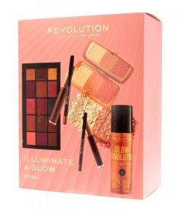 Makeup Revolution Illuminate & Glow Zestaw kosmetyków do makijażu Rose  1op.