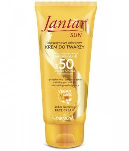 Farmona Jantar Sun Krem do twarzy SPF50 - bursztynowy ochronny  50ml