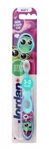Jordan Szczoteczka do zębów dla dzieci Step by Step 3-5 miękka - mix wzorów