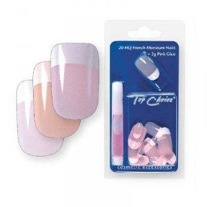 Top Choice Pielęgnacja i zdobienie paznokci Sztuczne paznokcie French Manicure beż 7866B