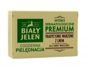 Biały Jeleń Codzienna Pielęgnacja Mydło dermatologiczne Premium w kostce kartonik 100g
