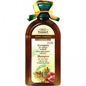Green Pharmacy Szampon do włosów suchych Olejek Arganowy, Granat
