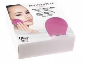 Dermofuture Technology Szczoteczka soniczna do oczyszczania twarzy różowa  1szt