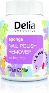 Delia Cosmetics Zmywacz do paznokci z gąbką bez acetonu  75ml