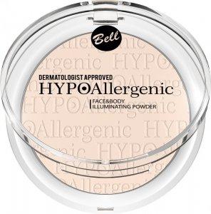 Bell Hypoallergenic Puder rozświetlający do twarzy i ciała  nr 01  6g