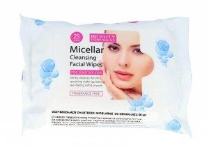 Beauty Formulas Micellar Cleansing Chusteczki micelarne do demakijażu  1op.-25szt