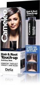 Delia Cosmetics Cameleo Hair&Root Touch-up Korektor tuszujący odrosty i siwe włosy - czarny  1szt