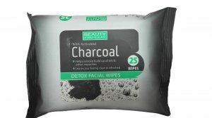 Beauty Formulas Charcoal Chusteczki oczyszczające z aktywnym węglem  1op.-25szt
