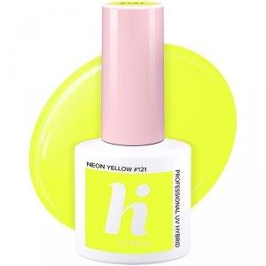 Hi Hybrid Lakier hybrydowy nr 121 Neon Yellow  5ml