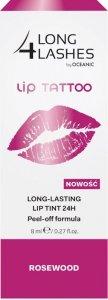 Long 4 Lashes Lip Tattoo Preparat żelowy do ust 24H  Rosewood  8ml
